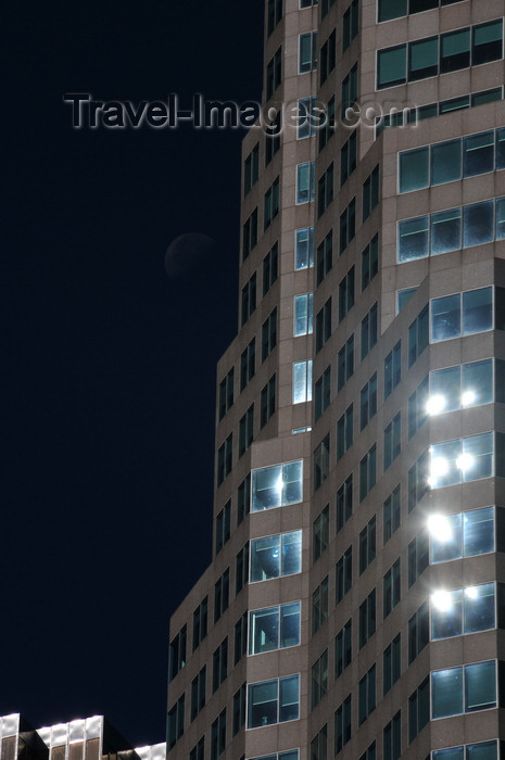 canada702: Toronto, Ontario, Canada: Brookfield Place - TD Canada Trust Tower - moon and windows - Financial District - photo by M.Torres - (c) Travel-Images.com - Stock Photography agency - Image Bank