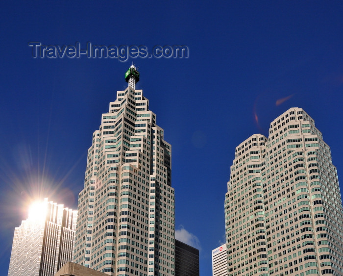 canada709: Toronto, Ontario, Canada: Financial District - Brookfield Place (TD Canada Trust Tower and Bay Wellington Tower) and Royal Bank Plaza reflecting the sun light - photo by M.Torres - (c) Travel-Images.com - Stock Photography agency - Image Bank