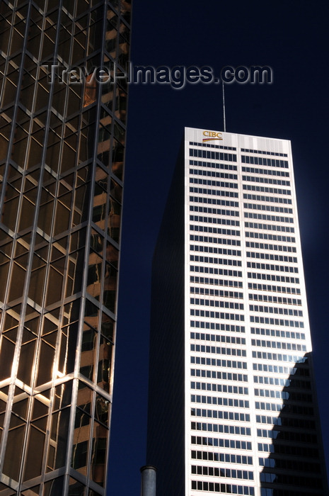 canada718: Toronto, Ontario, Canada: gold and silver - Royal Bank Plaza and CIBC - Commerce Court West - Financial District - photo by M.Torres - (c) Travel-Images.com - Stock Photography agency - Image Bank