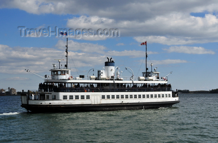 canada737: Toronto, Ontario, Canada: ferry to Toronto islands - the Sam McBride - double deck, double ended, diesel screw passenger ferry - photo by M.Torres - (c) Travel-Images.com - Stock Photography agency - Image Bank