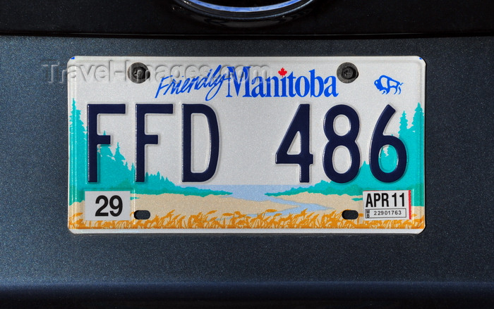 canada765: Winnipeg, Manitoba, Canada: Manitoba license plate - 'Friendly Manitoba' - photo by M.Torres - (c) Travel-Images.com - Stock Photography agency - Image Bank