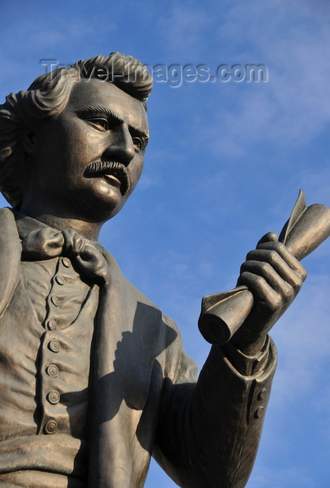 canada776: Winnipeg, Manitoba, Canada: statue of Louis A. Riel - a founder of the province of Manitoba, and leader of the Métis people of the Canadian prairies - sculptor Miguel Joyal - south grounds of the Legislative Building - photo by M.Torres - (c) Travel-Images.com - Stock Photography agency - Image Bank