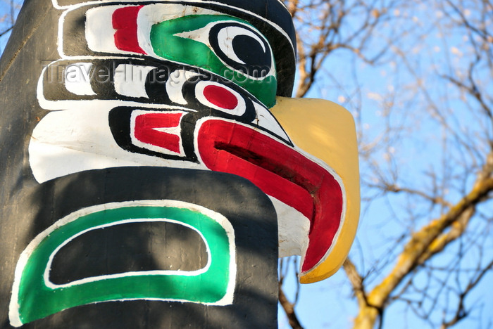canada778: Winnipeg, Manitoba, Canada: totem - Assinboine Avenue - grounds of the Legislative Palace - photo by M.Torres - (c) Travel-Images.com - Stock Photography agency - Image Bank