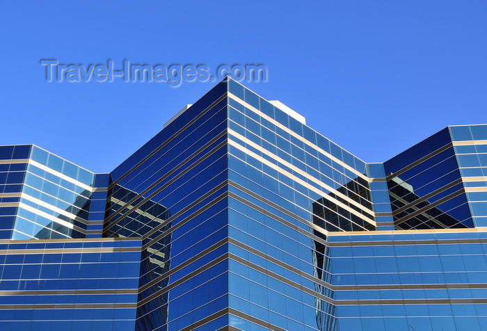canada783: Winnipeg, Manitoba, Canada: a modern jail on Kennedy Street - Remand Centre - Manitoba Department of Justice - Gaboury Prefontaine Perry architects - bold geometric shapes joined in abrupt transitions - photo by M.Torres - (c) Travel-Images.com - Stock Photography agency - Image Bank