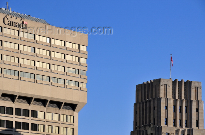 canada794: Winnipeg, Manitoba, Canada: Canadian Grain Commission Building and Federal Building (right) - Main Street - photo by M.Torres - (c) Travel-Images.com - Stock Photography agency - Image Bank