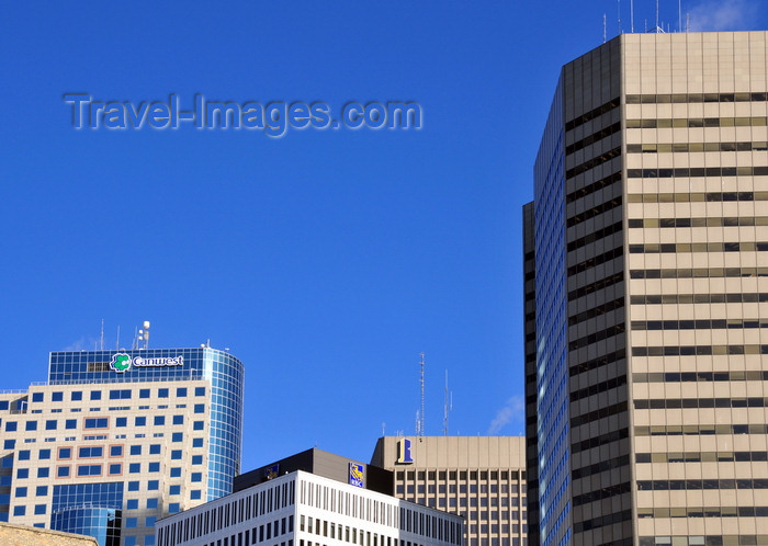 canada795: Winnipeg, Manitoba, Canada: Downtown skyscrapers - left to right: TD Centre, Royal Bank Building, Richardson Building, Commodity Exchange - photo by M.Torres - (c) Travel-Images.com - Stock Photography agency - Image Bank