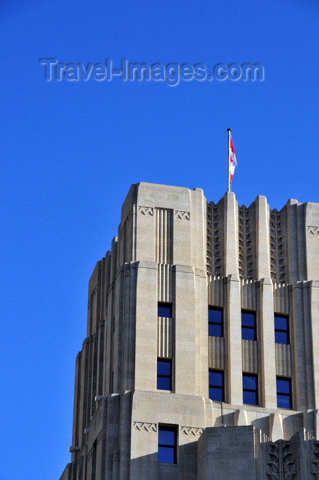 canada799: Winnipeg, Manitoba, Canada: Federal Building on Main Street - architects Northwood & Chivers - office block in a mild Art Deco style - wheaf sheafs - photo by M.Torres - (c) Travel-Images.com - Stock Photography agency - Image Bank