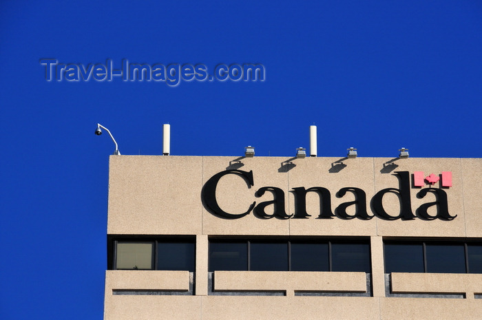 canada801: Winnipeg, Manitoba, Canada: 'Canada' sign - top of the Canadian Grain Commission Building - Main Street - photo by M.Torres - (c) Travel-Images.com - Stock Photography agency - Image Bank