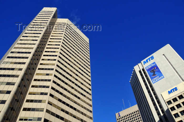 canada803: Winnipeg, Manitoba, Canada: Commodity Exchange Tower - architect Smith Carter - MTS tower on the left - Main Street - photo by M.Torres - (c) Travel-Images.com - Stock Photography agency - Image Bank