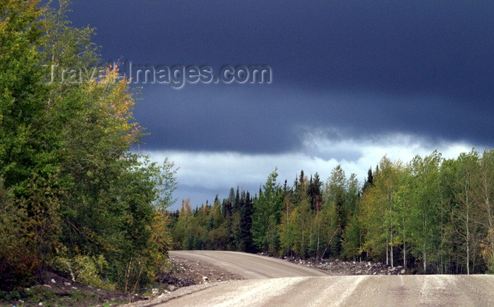 canada81: Canada / Kanada - Saskatchewan: secluded dirt road in Northern Saskatchewan used for lumbering industry - photo by M.Duffy - (c) Travel-Images.com - Stock Photography agency - Image Bank