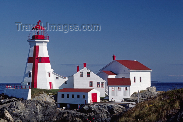 canada811: Campobello Island, New Brunswick, Canada: East Quoddy Head Lighthouse is painted with the Cross of St. George - English flag motive - photo by C.Lovell - (c) Travel-Images.com - Stock Photography agency - Image Bank