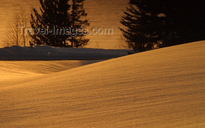 canada95: Canada / Kanada - Saskatchewan: orange sunset reflecting on the snow in scenic Northern Canada - photo by M.Duffy - (c) Travel-Images.com - Stock Photography agency - Image Bank