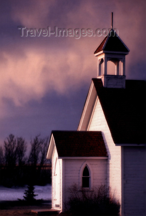 canada97: Canada / Kanada - Charming old Church and gorgeous sky - photo by M.Duffy - (c) Travel-Images.com - Stock Photography agency - Image Bank