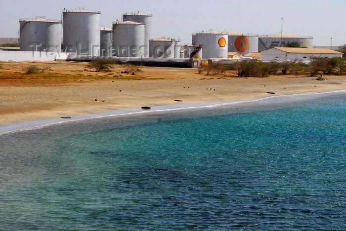 capeverde42: Palmeira, Sal island / Ilha do Sal - Cape Verde / Cabo Verde: fuel tanks - oil depot near Palmeira harbour - photo by E.Petitalot - (c) Travel-Images.com - Stock Photography agency - Image Bank
