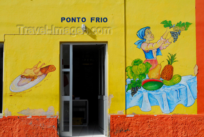 capeverde68: São Filipe, Fogo island - Cape Verde / Cabo Verde: painting on a restaurant wall - 'Ponto Frio' - photo by E.Petitalot - (c) Travel-Images.com - Stock Photography agency - Image Bank