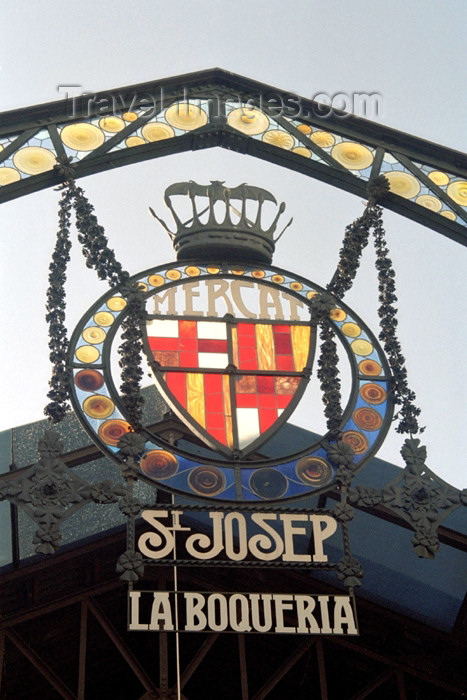catalon102: Catalonia - Barcelona: Mercat St. Josep - La Boqueria - coat of arms - photo by M.Bergsma - (c) Travel-Images.com - Stock Photography agency - Image Bank