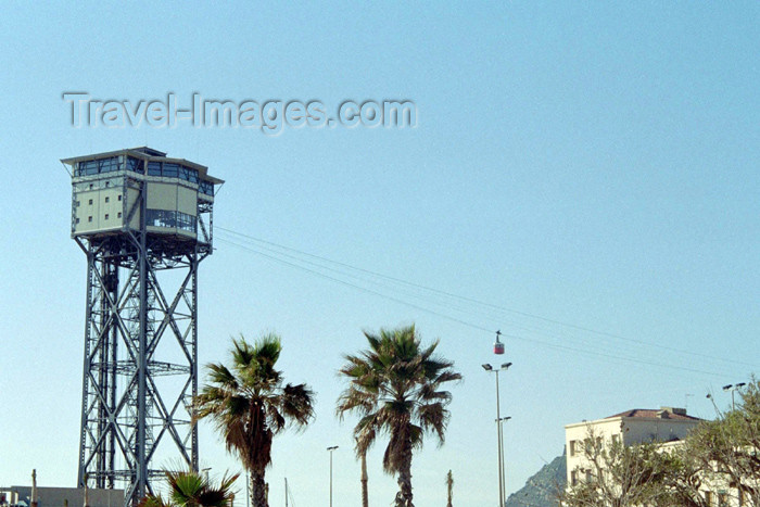 catalon103: Catalonia - Barcelona: cable car tower - photo by M.Bergsma - (c) Travel-Images.com - Stock Photography agency - Image Bank