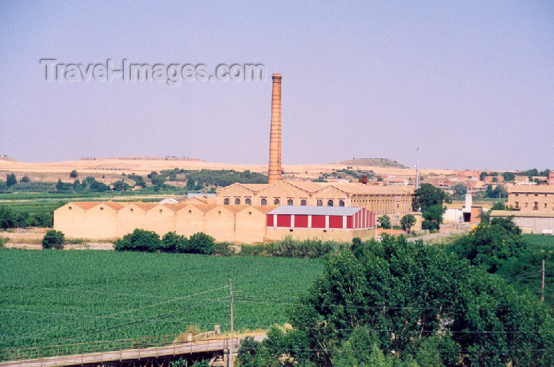 catalon17: Catalonia / Catalunya - Térmens, Noguera, Lleida province: factory amongst the orchards - photo by Miguel Torres - (c) Travel-Images.com - Stock Photography agency - Image Bank