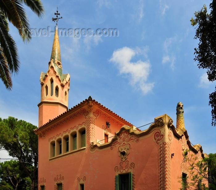 catalon179: Barcelona, Catalonia: Gaudi House Museum - 'la Torre Rosa', Park Güell, architect Francesc Berenguer - photo by M.Torres - (c) Travel-Images.com - Stock Photography agency - Image Bank