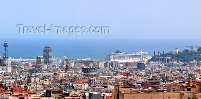 catalon180: Barcelona, Catalonia: harbour panorama - Mediterranean sea - photo by M.Torres - (c) Travel-Images.com - Stock Photography agency - Image Bank