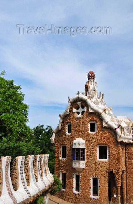 catalon184: Barcelona, Catalonia: ward's house - Park Güell by Antoni Gaudí, Carmel Hill, La Salut, Gràcia district - UNESCO World Heritage Site - photo by M.Torres - (c) Travel-Images.com - Stock Photography agency - Image Bank