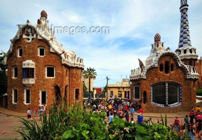 catalon188: Barcelona, Catalonia: entrance pavilions - Park Güell by Antoni Gaudí, Carmel Hill, La Salut, Gràcia district - UNESCO World Heritage Site - photo by M.Torres - (c) Travel-Images.com - Stock Photography agency - Image Bank