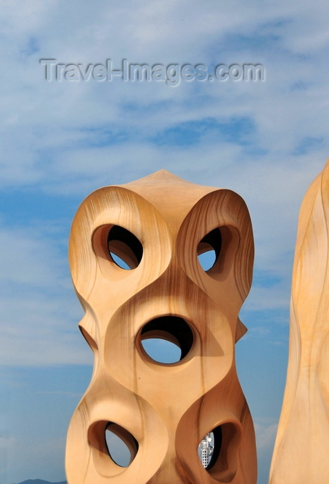 catalon214: Barcelona, Catalonia: vent on the roof of Casa Milà, La Pedrera, by Gaudi - UNESCO World Heritage Site - photo by M.Torres - (c) Travel-Images.com - Stock Photography agency - Image Bank