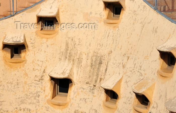 catalon220: Barcelona, Catalonia: random windows, attic of Casa Milà, La Pedrera, by Gaudi - UNESCO World Heritage Site - photo by M.Torres - (c) Travel-Images.com - Stock Photography agency - Image Bank