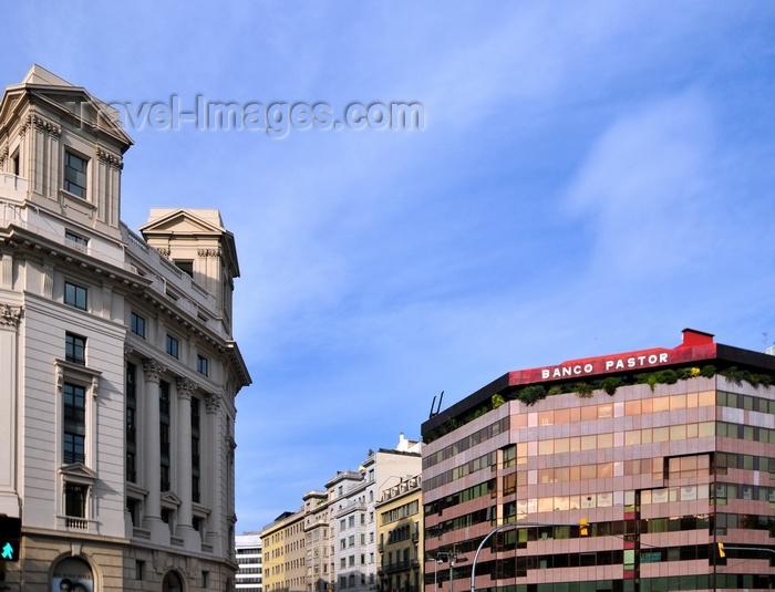 catalon231: Barcelona, Catalonia: Passeig de Gràcia - neo-classical building and Banco Pastor, corner of Carrer d'Aragó - Eixample district - photo by M.Torres - (c) Travel-Images.com - Stock Photography agency - Image Bank
