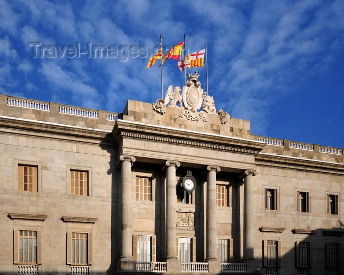 catalon248: Barcelona, Catalonia: Barcelona City Hall, the Casa de la Ciutat (Ajuntament de Barcelona) - plaça de Sant Jaume, Barri Gòtic, Gothic Quarter - photo by M.Torres - (c) Travel-Images.com - Stock Photography agency - Image Bank