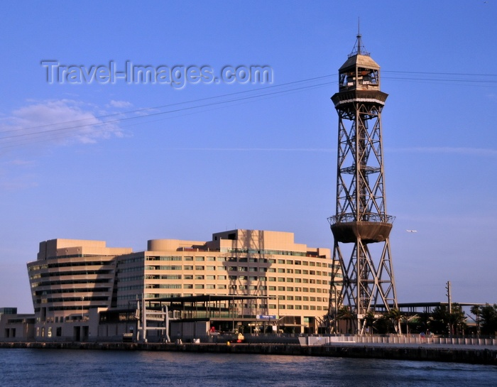 catalon254: Barcelona, Catalonia: Hotel Eurostars Grand Marina, World Trade Center and Torre Jaume I, Port Vell Aerial Tramway - photo by M.Torres - (c) Travel-Images.com - Stock Photography agency - Image Bank