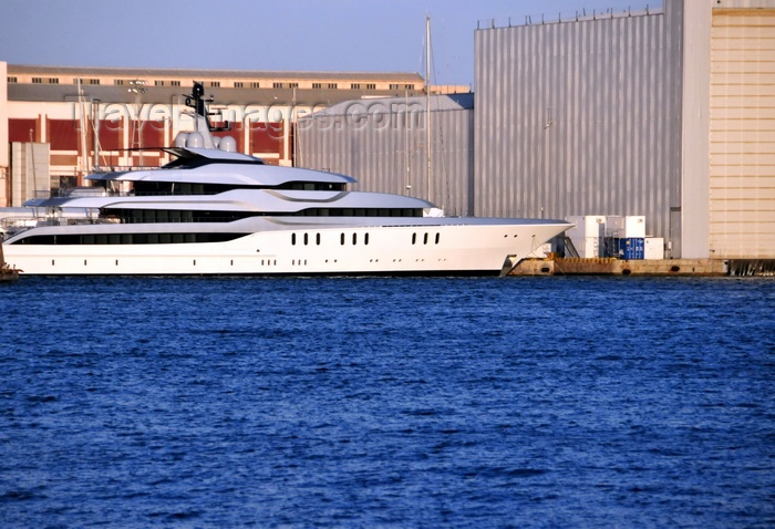 catalon256: Barcelona, Catalonia: super-yacht moored in the Port Vell - photo by M.Torres - (c) Travel-Images.com - Stock Photography agency - Image Bank