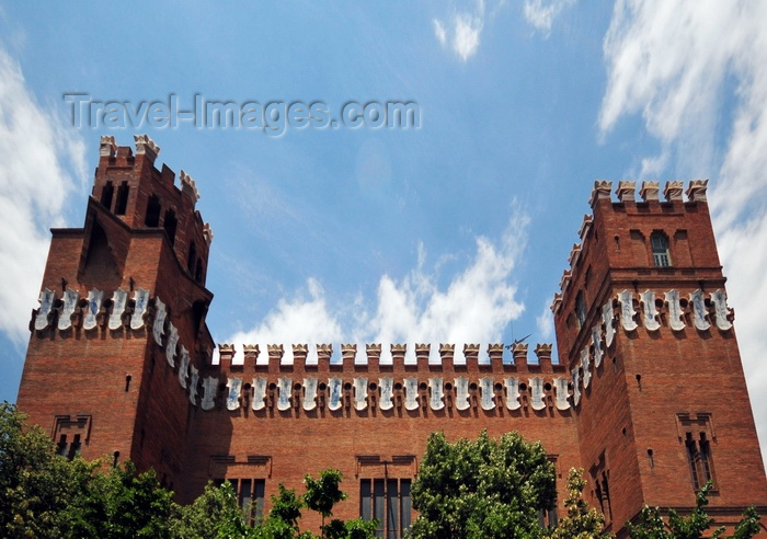 catalon268: Barcelona, Catalonia: café-testaurant built for the 1888 Universal Exposition of Barcelona - Castell dels Tres Dragons, architect Lluís Domènech i Montaner - photo by M.Torres - (c) Travel-Images.com - Stock Photography agency - Image Bank
