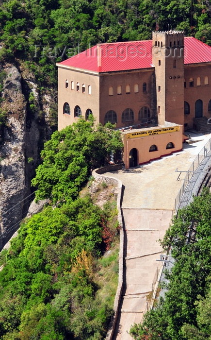 catalon36: Montserrat, Catalonia: cable car station seen from the abbey - Teleferic- photo by M.Torres - (c) Travel-Images.com - Stock Photography agency - Image Bank