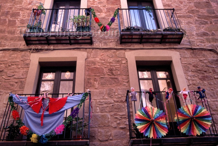 catalon53: Catalonia / Catalunya - Solsona, Solsonès, Lleida province: balconies - carnival - photo by F.Rigaud - (c) Travel-Images.com - Stock Photography agency - Image Bank