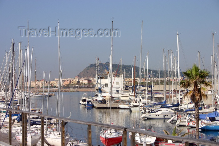 catalon55: Catalonia - Barcelona: in the marina - Tibidabo in the background - photo by C.Blam - (c) Travel-Images.com - Stock Photography agency - Image Bank