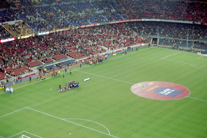 catalon91: Catalonia - Barcelona: Nou Camp Stadium - Barça (FC Barcelona) vs Racing Santander - soccer match - photo by M.Bergsma - (c) Travel-Images.com - Stock Photography agency - Image Bank