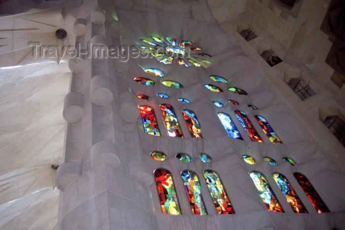 catalon92: Catalonia - Barcelona: stained glass windows in the Sagrada Familia Basilica - photo by M.Bergsma - (c) Travel-Images.com - Stock Photography agency - Image Bank