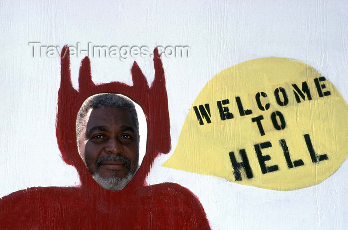 cayman16: Cayman Islands - Gran Cayman - Hell - the devil welcomes you - photo by F.Rigaud - (c) Travel-Images.com - Stock Photography agency - Image Bank