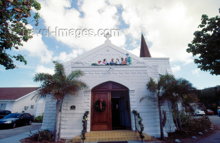 cayman19: Cayman Islands - Grand Cayman - George Town - church - photo by F.Rigaud - (c) Travel-Images.com - Stock Photography agency - Image Bank