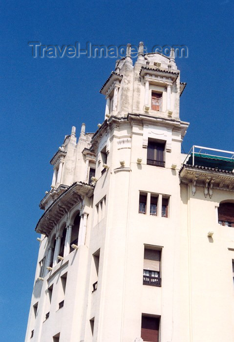 ceuta9: Ceuta: Trujillo building / Edificio Trujillo - Paseo del Revellin, plaza de la Constitución - arquitecto balear Andrés Galmés Nadal - photo by M.Torres - (c) Travel-Images.com - Stock Photography agency - Image Bank