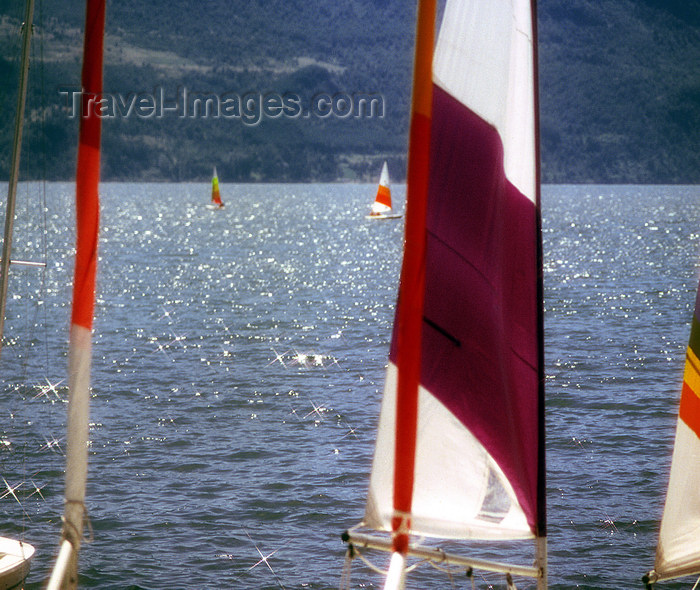 chile106: Araucanía Region, Chile - Pucón: Lake Villarica - sails - photo by Y.Baby - (c) Travel-Images.com - Stock Photography agency - Image Bank