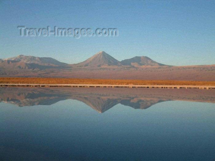 chile11: Atacama Desert/ deserto de Atacama (Atacama region), Chile: lake - mountain reflection - photo by S.Alston - (c) Travel-Images.com - Stock Photography agency - Image Bank