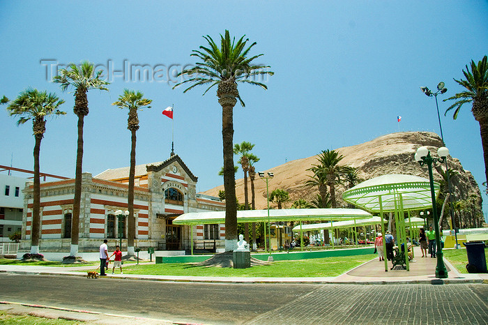 chile116: Chile - Arica: Morro de Arica and the House of Culture - Casa de la Cultura Alfredo Raiteri Cortes - photo by D.Smith - (c) Travel-Images.com - Stock Photography agency - Image Bank