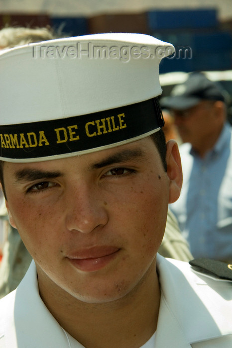 chile119: Antofagasta, Chile: sailor - Chilean navy - 	