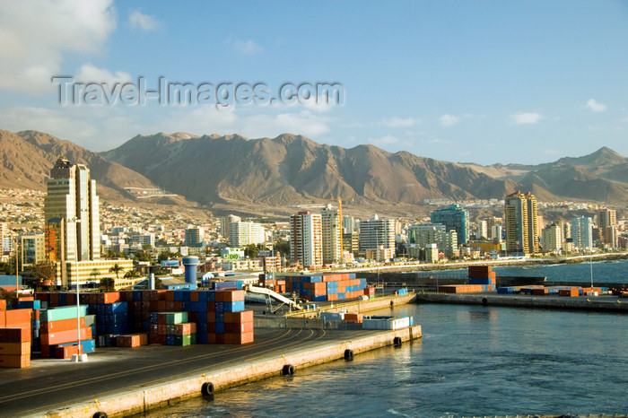 chile128: Antofagasta, Chile: port and skyline | puerto y panorama Urbano - photo by D.Smith - (c) Travel-Images.com - Stock Photography agency - Image Bank