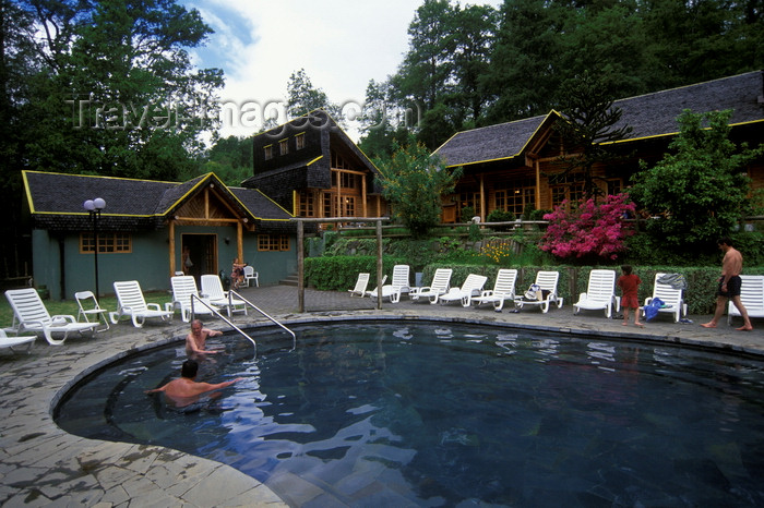 chile155: Pucón, Province of Cautín, Araucanía Region, Chile: outdoor pool at the Termas San Luis - San Luis Hot Springs -Lake District of Chile - photo by C.Lovell - (c) Travel-Images.com - Stock Photography agency - Image Bank
