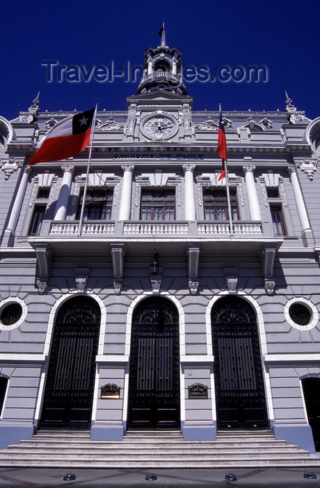 chile175: Valparaíso, Chile: Primera Zona Naval building, ex-Intendencia de Valparaiso, with its mansard roof on Plaza Sotomayor - photo by C.Lovell - (c) Travel-Images.com - Stock Photography agency - Image Bank