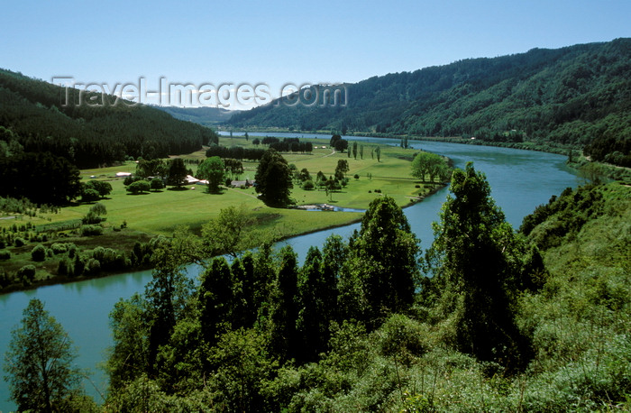 chile19: Valdivia, Los Ríos, Chile: the beautiful Calle Calle river is a major transportation route for lumber and other goods - photo by C.Lovell - (c) Travel-Images.com - Stock Photography agency - Image Bank