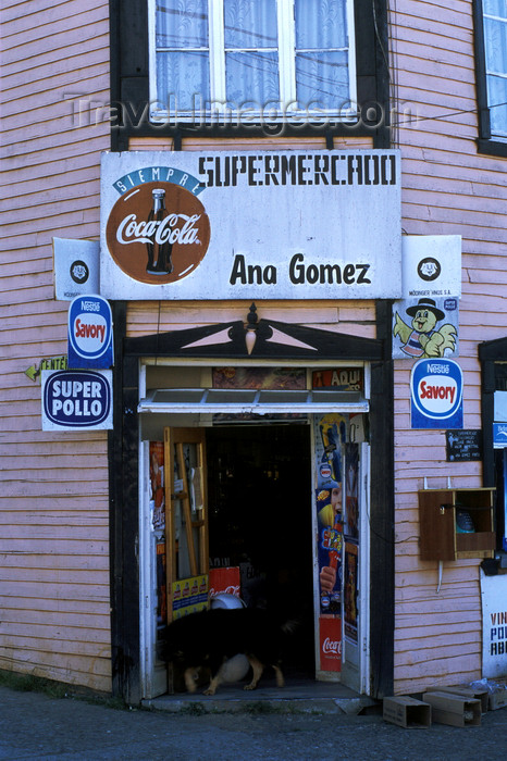 chile196: Chonchi, Chiloé island, Los Lagos Region, Chile: local shop - Supermercado Ana Gomez - photo by C.Lovell - (c) Travel-Images.com - Stock Photography agency - Image Bank